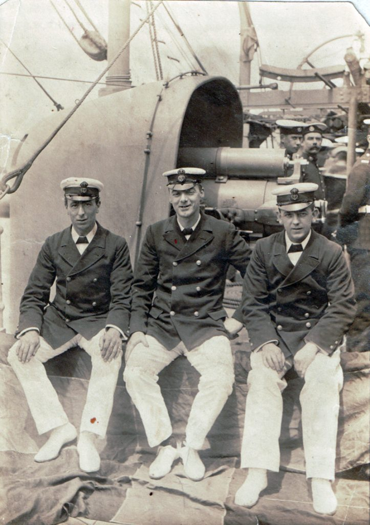 William Gray (R) with some shipmates